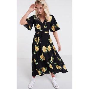 5992d34a190e ASOS Dresses | X Nobodys Child Floral Wrap Midi Dress | Poshmark